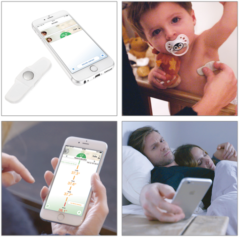 Tucky thermometre connecte pour fievre bebe
